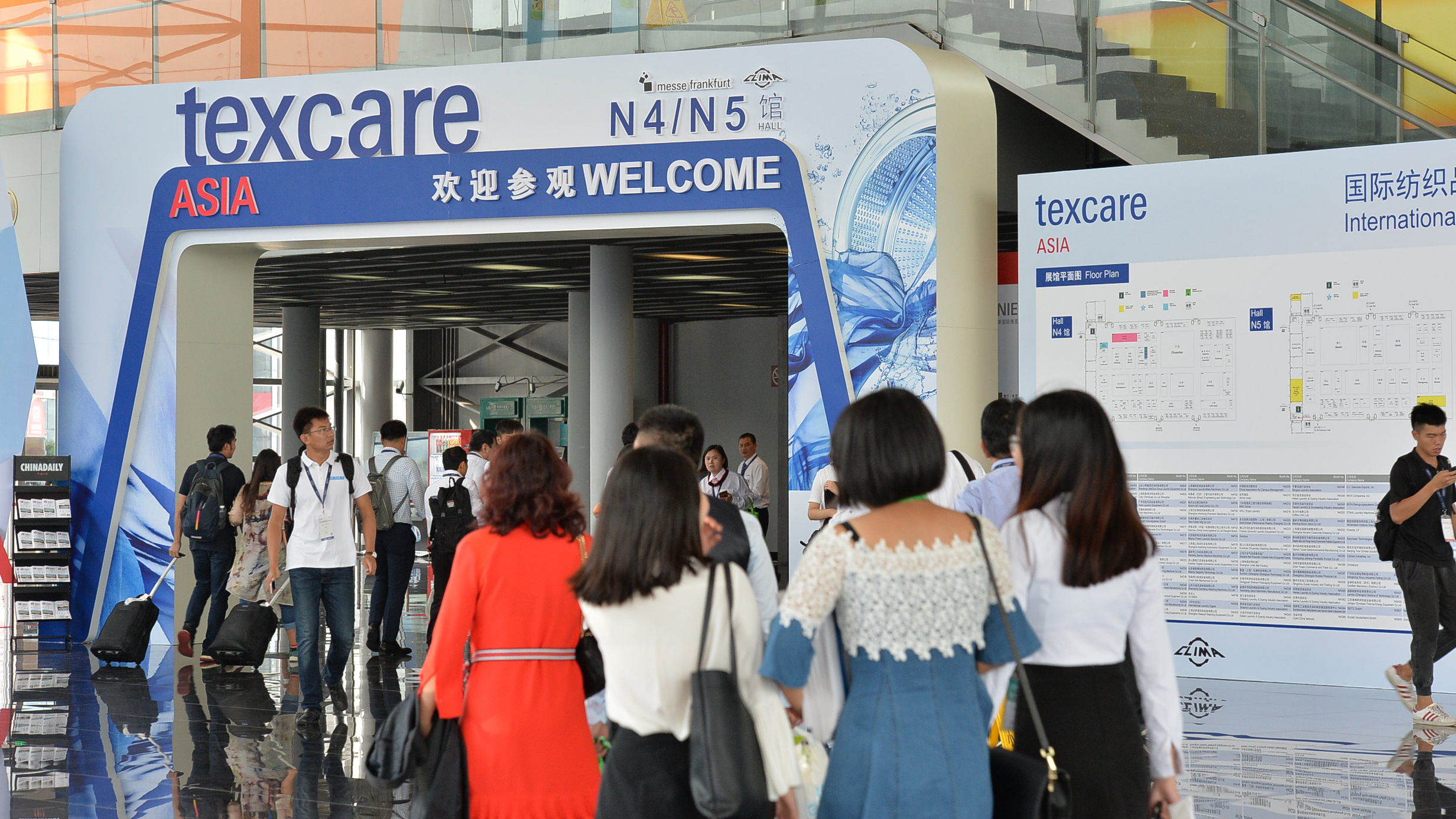 Visitors of  Texcare Asia